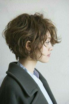 wavy hair Stylish Short Haircuts for Curly Wavy Hair - Hair Styles Short Hair Model, Short Hair Cuts, Curly Short, Pixie Cuts, Curly Pixie, Short Wavy Pixie, Korean Perm Short Hair, Wavy Curly Hair Cuts, Short Wavey Hair