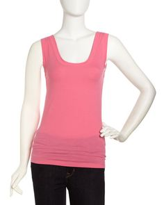 Scoop-Neck Tank, Pucker by Velvet by Graham & Spencer at Last Call by Neiman Marcus.