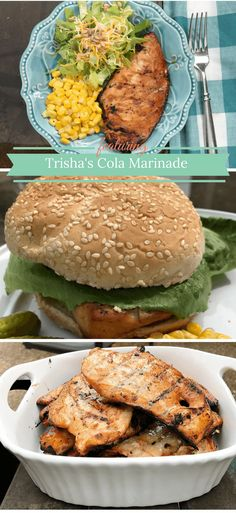 Trisha's Cola Marinade for Chicken Breasts on the Grill is a simple recipe for a delicious and juicy grilled chicken breasts.   Trisha Dishes   Chicken Breast Marinade Recipe   Coca-Cola Marinade   Soda Marinade