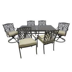 Outdoor Innovation Carmen Aluminum 7 Piece Patio Dining Set - 7040S/
