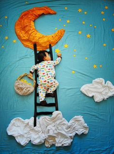 sleeping baby a climbing star