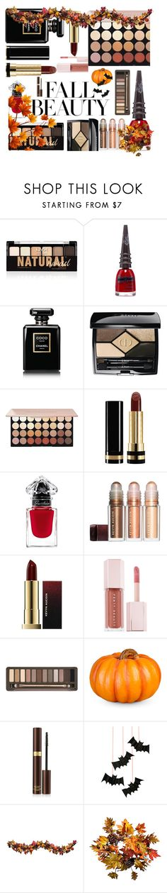 """""""fall beauty"""" by crinuut ❤ liked on Polyvore featuring beauty, NYX, Manic Panic NYC, Chanel, Christian Dior, Gucci, Puma, Urban Decay, Improvements and Tom Ford"""