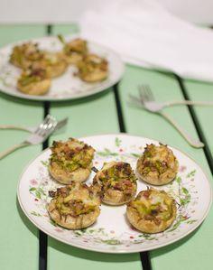 Champiñones rellenos de ajetes y jamón | Cookinaria | Recetas Mycook
