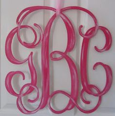 {Introducing} Wooden Cut Out Monograms - By TEN23 Designs