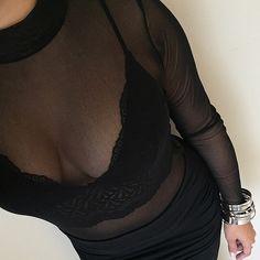 Mesh Bodysuit, Fashion Outfits, Fashion Tips, Fashion Trends, White Brand, Black Is Beautiful, Clothing Ideas, Bodysuits, Mock Neck