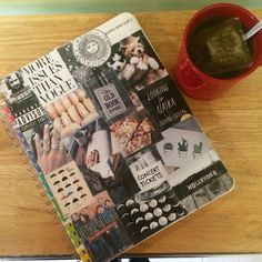 It's so easy all you do is find pictures you like then tape them onto a notebook you don't like the cover of. Notebook Collage, Concert Tickets, Find Picture, Tape, Old Things, Polaroid Film, Random, Cover, Pictures