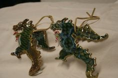 dragon ornaments with candy canes