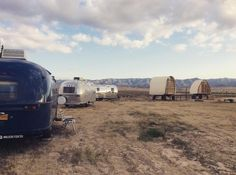 Bring your friends to the high desert and stay here. @blueskycenter @brodytravelsupply @sheltonhuts @trailermade.co #airstream #camp #mobilecommunity
