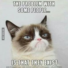 The problrm with some people is that they exist