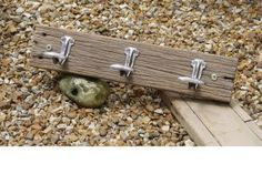 Upcycling - Brighton Pier planks made into Coat racks