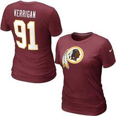 Nike Ryan Kerrigan Washington Redskins Women's Name & Number T-Shirt