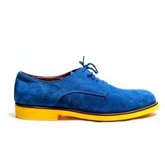 Del Toro - Royal Blue Suede Oxford   If I had these shoes, I would smile the entire time I had them on!!!!!!1