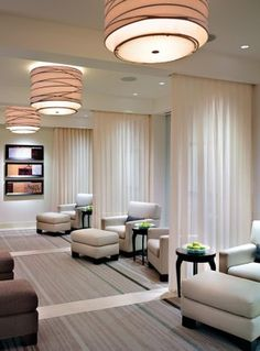Relax in our Ara Spa lounge area before and after your treatment. Ameristar Casino Resort Spa in Black Hawk, Colorado. Hotel Spa, Relaxation Room, Interior, Clinic Interior Design, Spa Interior, Spa Lounge, Spa Decor, Lounge Areas, Lounge
