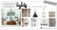Need help finding the perfect light fixtures to add Fixer Upper Style to your home? Check out Joanna Gaines' favorite lights and where to find them!