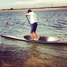 Jim Terrell on a crazy new SUP board prototype at the Silver Blade Regatta 2012 Olympic Style SUP Race