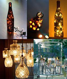 Vidro e luz na decoração