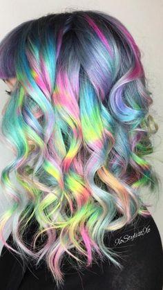 Holographique de Couleur de Cheveux Tendance pour 2017