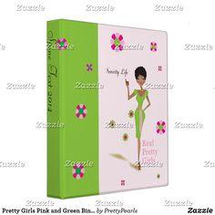 Shop Pretty Girls Pink and Green Binder created by PrettyPearls. Aka Sorority, Sorority And Fraternity, Alpha Kappa Alpha, Binder Design, Custom Binders, Pink And Green, Unique Weddings, Pink Girl, Pretty Girls