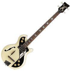 Italia Mondial Electric Bass Guitar - Cream w/ CASE #Italia