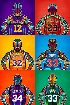 NBA Legends on Behance
