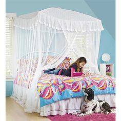 Picture 9 of 9 Kids Bed Canopy, Canopy Bedroom, Kids Bedroom, Master Bedroom, Sparkling Lights, Bedroom Lighting, Modern Bedroom, Kids Girls, Toddler Bed