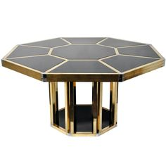 """54""""D Octagonal Dining Table in the Style of Gabriella Crespi  more antique and modern Center Tables at http://www.1stdibs.com/furniture/tables/center-tables"""