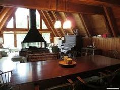 Image result for A-frame cabins with dormers