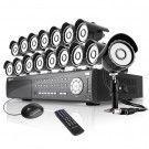 16CH CCTV Security System 1TB HDD & 16 600TVL Hi-Reso Cameras
