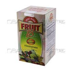 FRUIT BLEND 18 ADULT BTL 30'S  Indikasi: melancarkan bab, meningkatkan daya tahan tubuh, mencukupi kebutuhan nutrisi buah. Pabrik: pharos
