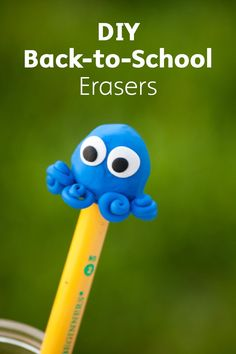 Check out these adorable and fun DIY Back-to-School Erasers you can make with your kids! Use this versatile clay to create an eraser that is unique and personalized to your kids' tastes.