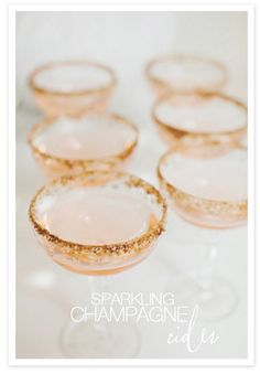 Sparkling Champagne Cider cocktail w/ Pumpkin Pie Spice Rim. Recipe here: http://www.stylemepretty.com/2012/10/23/smp-at-home-spotlight-a-cocktail-recipe/#  Photography by http://rebeccahansenweddings.com/
