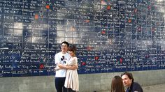 "Most romantic places in Paris: Wall of ""I Love You's"""