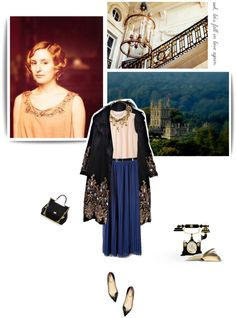 """Downton Abbey ♔"" by vintagepage ❤ liked on Polyvore"
