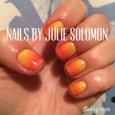 CND Shellac Ombré Sunset Nails