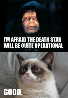 Grumpy approves of the Death Star's operational capabilities