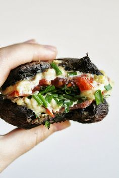 Portobello Mushroom Cashew Cheeseburgers