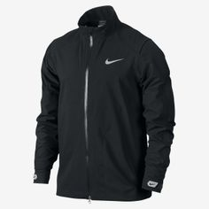 386dc90f233 Nike s Hyperadapt Storm-Fit jacket is all about comfort and performance.  Its unique blend of a sweater-like stretch and a waterproof outer shell  repels wind ...