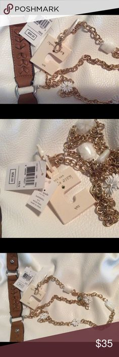 "KATE SPADE N.Y.NWT GOLD WHT. DAISY CHAIN BELT XS/S VERY PRETTY KATE SPADE NWT GOLD TONE WHITE DAISY CHAIN BELT. BELT SIZE IS XS/S ,THIS BELT MEASURES 38"" LONG. SORRY NO TRADES. kate spade New York Accessories Belts"