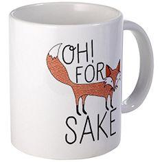 CafePress Oh For Fox Sake Mugs - S White CafePress http://www.amazon.com/dp/B00QP8PPMY/ref=cm_sw_r_pi_dp_cuv3ub00M5DPG
