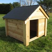 Features:  -Attractive and sturdy: This dog house will outlast any other cedar dog houses available on the market.  -Designed to ensure the comfort of your dog. Offset door provides a protection from