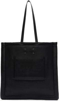 Maison Margiela: Black Large Tote | SSENSE Pack Up, Large Tote, Stuff To Buy, Men, Shopping, Accessories, Collection, Black, Fashion