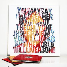 'Imagine' Typographic Art - art & pictures