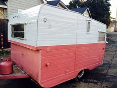 Very rare cute little trailer aristocrat 10 foot that's pink has the icebox stuff full-size bed in place for a porta pottymostly restored very lightweight you comply with the car $10005305016574title