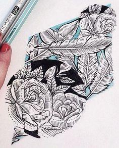 Flower tattoo design • Visit artskillus.ru for more tattoo ideas