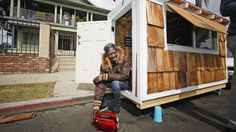 LA Officials Bring The Hammer Down On Tiny Houses For Homeless : NPR