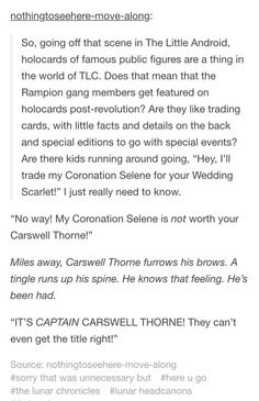 It's CAPTAIN Carswell Thorne!