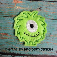 Silly Monster Digital Feltie Embroidery Design by EmbroiderThatNow, $4.50