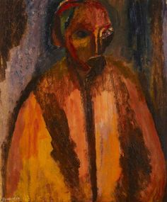 Self Portrait by David Bomberg 1954 Leon Kossoff, David Bomberg, Pink Crayon, Frank Auerbach, Chalk Pencil, Thing 1, Gold Art, Portraits, Figure Painting