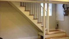 The problem presented was a staircase that was too steep. There was not enough space to extend the staircase into the basement, so a platform was added to make the stairs easier to climb.