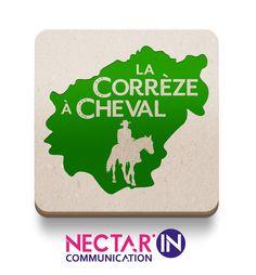 Nouveau logo pour le Comité Départemental du Tourisme Équestre de la Corrèze, La Corrèze à cheval. #corrèze #logo #cheval #randonnée #equitation #graphisme #nectarincommunication #ffe